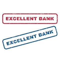 Excellent Bank Rubber Stamps vector image