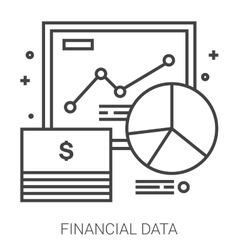 Financial data line infographic vector image