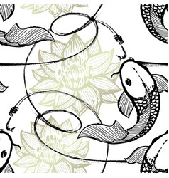 Fishing seamless pattern vector