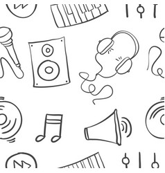 Hand draw of music doodles vector