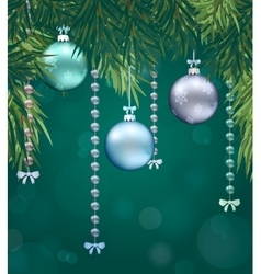 Happy new year background with christmas bauble vector