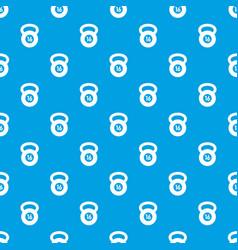 Kettlebell pattern seamless blue vector