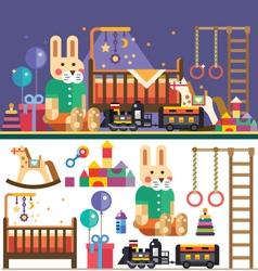 Kids room interior vector image