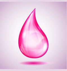 One big pink drop vector