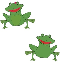 pair of frogs vector image