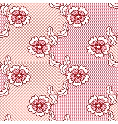 Red lace fabric seamless pattern vector