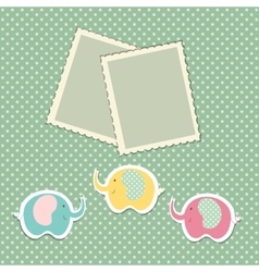 Romantic scrap booking template for invitation vector image vector image
