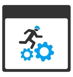 Running worker calendar page toolbar icon vector