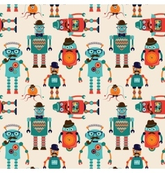 Seamless pattern background with cute hipster vector