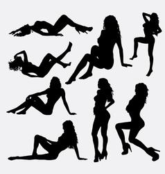 Sensual female silhouette vector image vector image
