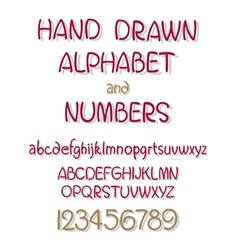set of calligraphic acrylic or ink alphabet vector image