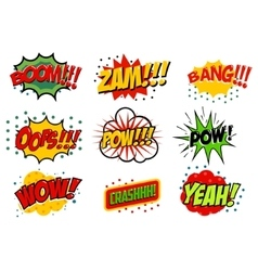 Set of comic style sound effects vector image