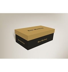 Shoes product packaging mock-up box 2 vector