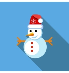 Snowman icon flat style vector image vector image