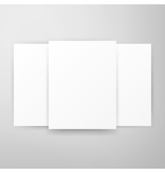 Three Posters Template Mockup vector image