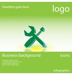 Tools business background vector image vector image