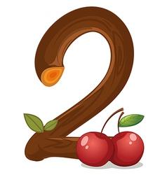 Two cherries vector image vector image