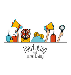 White background set colorful sale elements online vector