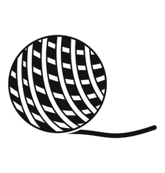 Yarn ball toy for cat icon simple style vector