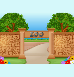 zoo in a beautiful nature vector image