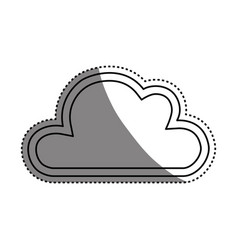 Cloud abstract draw vector