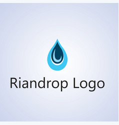 Raindrop logo ideas design background vector