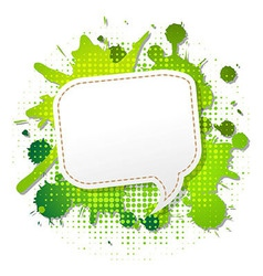 Green grunge poster with abstract speech bubbles vector