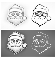 Cheerful santa face vector