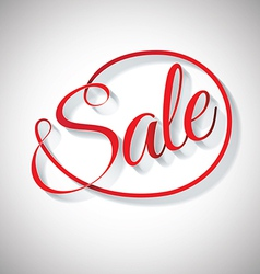 Sale red text design vector