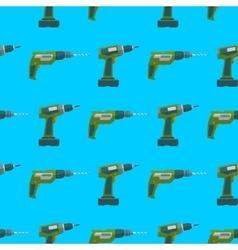 Drill screwdriver seamless pattern vector
