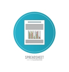 Spreadsheet design technology and infographic vector