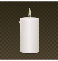 Candle Flame Fire Light Isolated on Background vector image