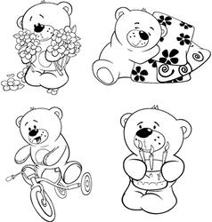 A set of bears vector