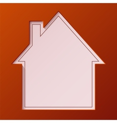 Abstract house background vector