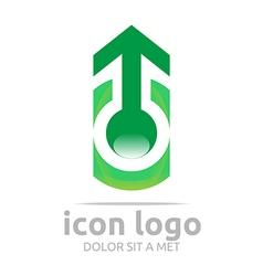 Arrow green design symbol abstract vector