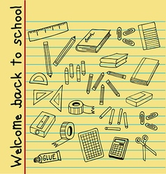 back to school note paper vector image vector image