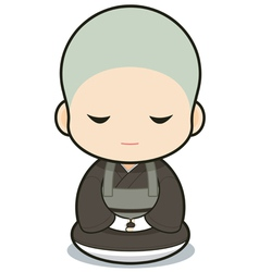 Buddhist monasticism vector