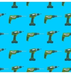 drill screwdriver seamless pattern vector image