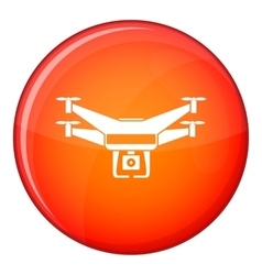 Drone video camera icon flat style vector