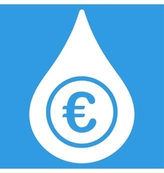 Euro liquid drop icon vector