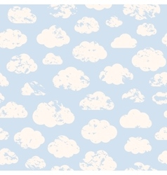 Grange clouds pattern vector image vector image