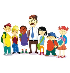 group of students vector image