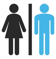 Lavatory persons flat pictogram vector