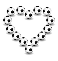 Love for soccer vector