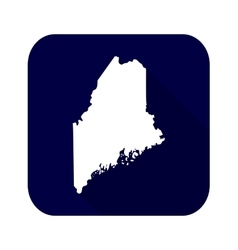map of the US state of Maine vector image vector image