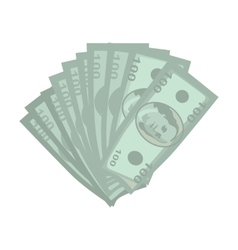 Money in flat style design vector
