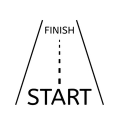 Road and start and finish vector