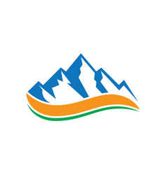 rocky mountain wave logo vector image