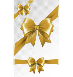 Set of gold gift bows vector