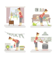 Set of housewifes vector image